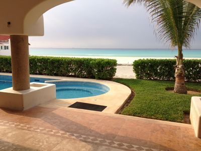 Photo for Villa Alborada 4BD Spacious Beach Front Villa Playacar Fase 1 Gated Community