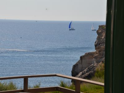 Photo for menorca apartment first sea line with beautiful views