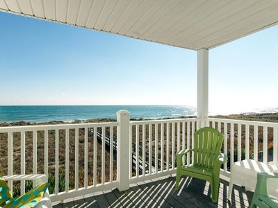 Photo for Charming oceanfront condo with beach access close to the boardwalk