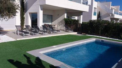 Photo for NEW SUPERB LUXURY BUNGALOW, private pool, sea view, close to beaches and golf course