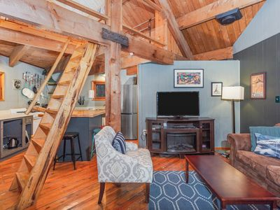 Photo for NEW LISTING! Peaceful Girdwood retreat with large deck and private hot tub!