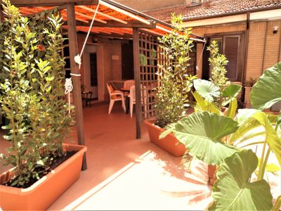 Photo for Spacious and quiet Apt., walking distance to the Vatican and metro stop