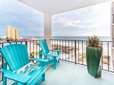 Photo for BEACHFRONT!☼Gulf & Pool Views☼Inspected & Disinfected☼2BR Moondrifter 605