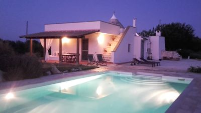 Photo for Beautiful Two Bedroomed Trullo, Private Swimming Pool, Countryside Views & Wifi