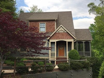 Photo for NEW! Mountain views near lake in Big Canoe w expansive decks next to amenities.