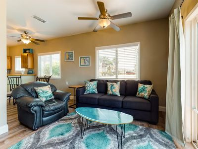 Photo for NEW LISTING! Bright condo by the beach w/ shared pool & great location!