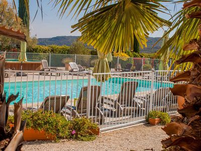 Photo for Holiday Village, Le Mas des Sagnes, eight charming cottages with pools