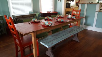 Dining area-table seats 8