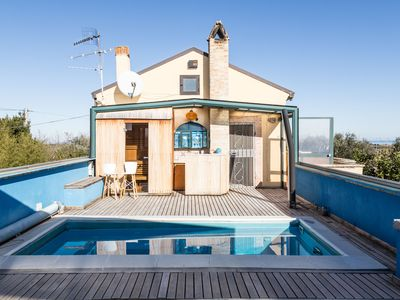 Photo for VILLA ADRIA ,14guests, salty pool, sauna, nature, beach, relax and more
