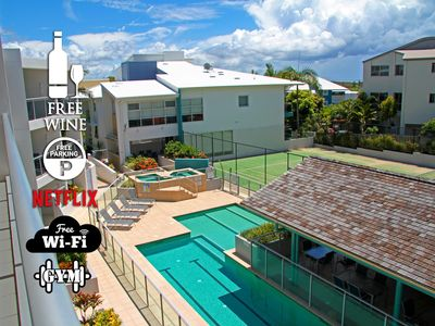 Photo for 1BR Coolum Beach 🌴Roof Terrace😎Spa💦Tennis🎾Pool