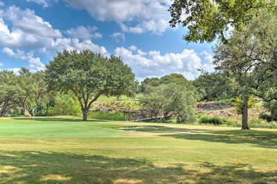 This The Hills vacation rental is situated in an upscale golf community.