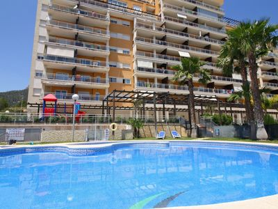 Photo for Beautiful apartment Luz de Calpe with swimming pool, A/C and sea view terrace