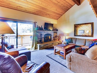 Photo for Updated condo with great views of the ski slopes - shared hot tub/sauna!