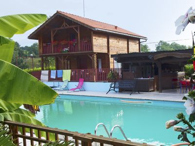 Photo for Spacious chalet with pool access