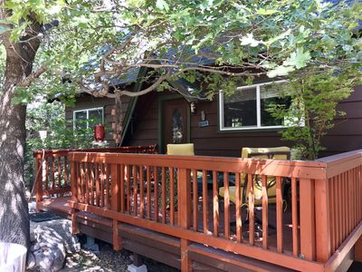 Photo for Cozy 1800 Sq ft Cabin Nestled In The Woods With Beach Club access