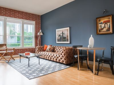 Photo for Sonder | The Galleria | Dashing 1BR + Laundry