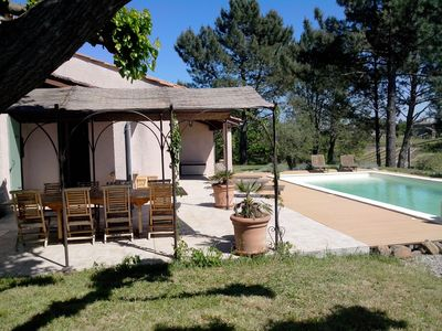 Photo for Mas Provencal style with pool on large plot in quiet.