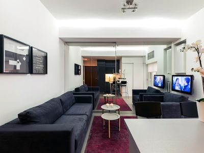 Photo for Kolonaki Park apartment in Kolonaki with WiFi & integrated air conditioning.