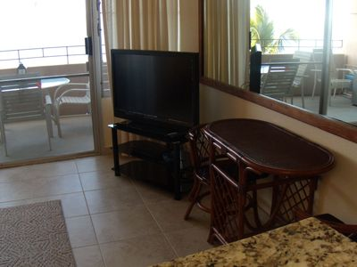 52 inch flat screen television with dvd player and High Speed Internet