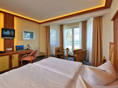 Photo for Comfort Double Room with Sea View - Strandhotel Seerose Kölpinsee