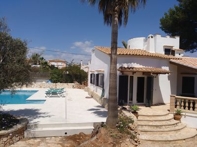 Photo for beautiful, renovated. Chalet for 5-7 pers. with large pool, Wi-Fi, air conditioning, close to the sea