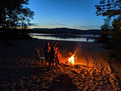 Photo for Private cottage with sand beach and snowmobile trails
