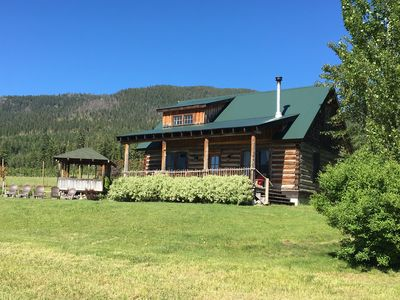 Photo for Historic Restored 1200 Sf Log Lodge Overlooking Flathead La
