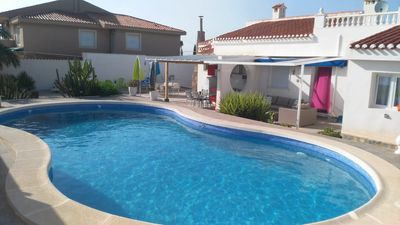 Photo for Villa private pool 11x6m view on salt lake and outdoor kitchen free 22/10 to 16 /