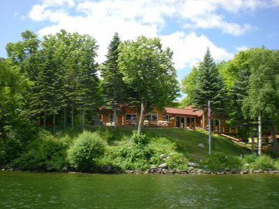 Photo for Beautiful Family Friendly  Log Sided Home on Lovely Lake Ida