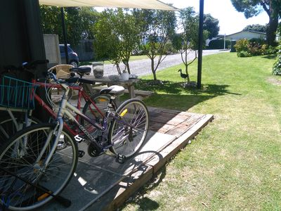 Complimentary bikes for guests to explore Te Awanga and wineries