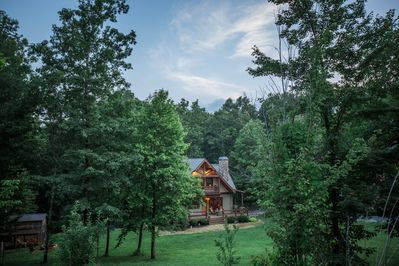 Surrounded by woods tucked up in the mountains just 20 min. from downtown Chatt!