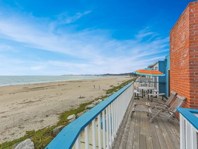 Photo for NEW LISTING! Oceanfront two-level home w/2 kitchens, beach access & space