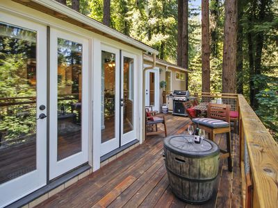 Photo for The Grove - Serene Retreat Under the Redwoods. Hot Tub and Dog Friendly!