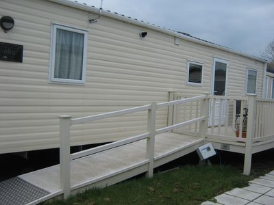 Photo for Fully accessible wheelchair adapted mobile home on site with level acces