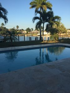 Photo for WATER_SUN_DOLPHINS PLAYING -PRIVATE WATERFRONT HOME-WALK TO BEACH, SHOPPING