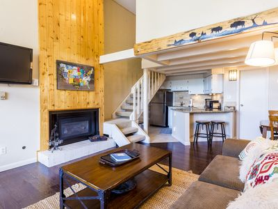 Photo for Ski Time Square by SkyRun! Walk to Ski Resort! Fireplace! Free Parking While You Ski!