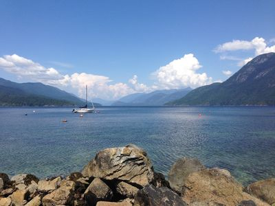 View up Sechelt Inlet from the waterfront - a short stroll from the house