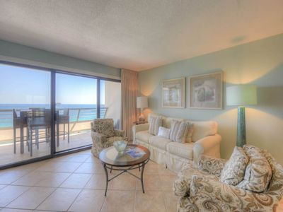 Photo for Spacious Condo with Gulf View! Wet Bar, Community Pool, Sauna, & Fitness Center!