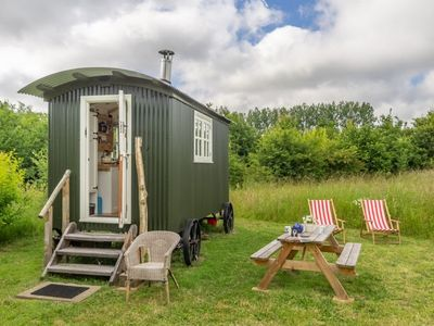 Photo for Charming craftsman-built shepherd's hut, set in it's own private woodland glade