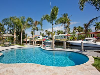 Photo for Pompano Beach Hacienda - Cute affordable waterfront home w/ pool and dock
