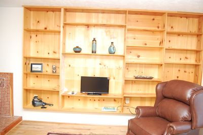 Study with built in cabinets; Also has Murphy bed on other wall