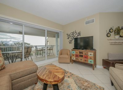Living Room with Ocean Views at 502 Barrington Arms