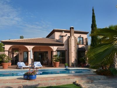 Photo for Villa with views of lake & mountain, 5 minutes walk to lake, ideal for families.