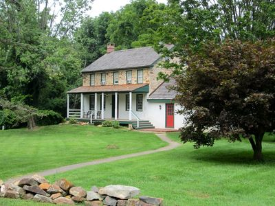 Photo for Circa 1790 Stone Farmhouse on 10 acres of your own Private Green Space