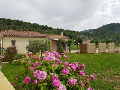 Photo for Comfort with enclosed garden, swimming pool, 800m from the center of Montbrun.