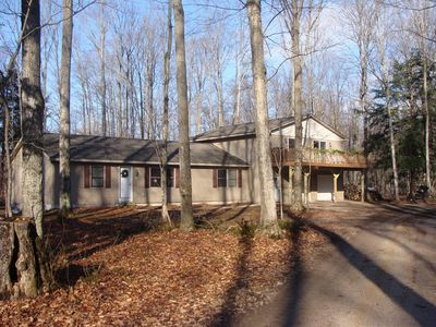 Photo for 4 Bedroom/2 Bath Home 40 Acres of Woods - Hot Tub