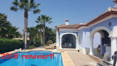 Photo for luxurious bungalow, large pool, multiple terraces, winter garden