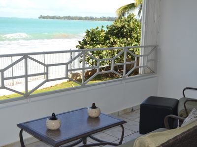 Photo for Welcome to Paradise at Luquillo Beach with breathtaking oceanfront views.