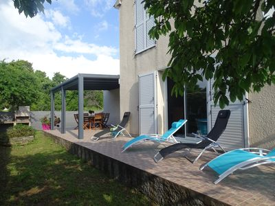 Photo for villa feet in the water in residence with swimming pool and tennisMaison avec jardin