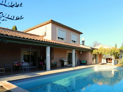 Photo for Comfortable, detached villa with private swimming pool near a small village.